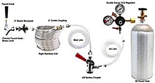 NY Brew Supply Complete 1 Tap Jockey Box Kit-No Cooler - Sanke D Coupler (Fits American Kegs)