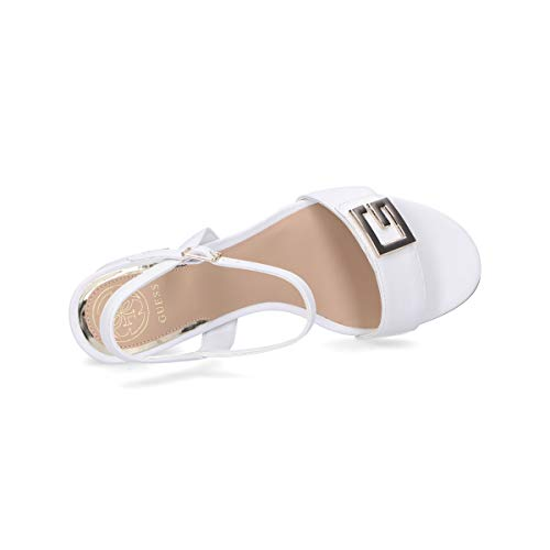 Guess Art. FL6MCKLEA03 Sandalo Elegante Mezzo Tacco Comodo (39 EU, Bianco)