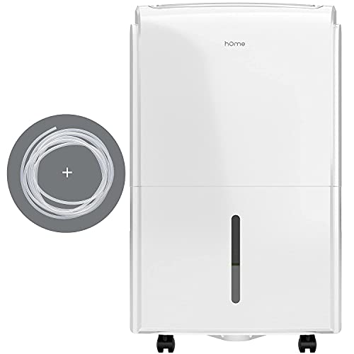 hOmeLabs 4,000 Sq. Ft Energy Star Dehumidifier with Pump – Ideal for Bedrooms, Basements, Bathrooms, and Laundry Rooms – with Digital Control Panel, 24 Hr Timer, and Overheat Protection