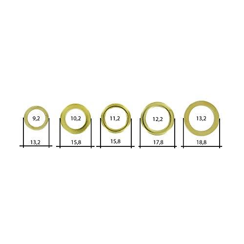 100 verschiedene Fitschenringe - Fitschenring-Sortiment - jeweils 20 von einer Größe/zum anheben von Türen