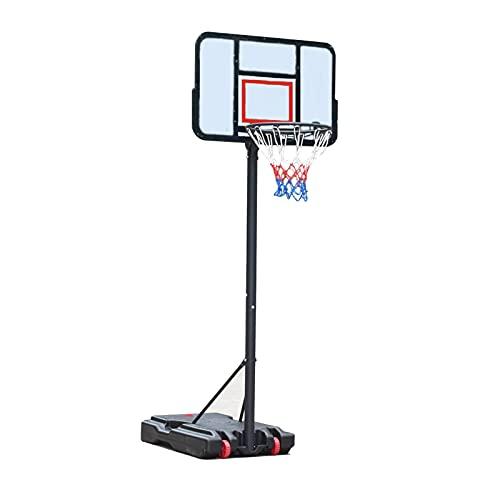 Canasta Baloncesto Aro De Baloncesto De Pie Al Aire Libre, Equipo De Entrenamiento De Baloncesto Portátil para Niños Y Adultos, Ajuste De Altura 190-305cm, Fácil De Instalar