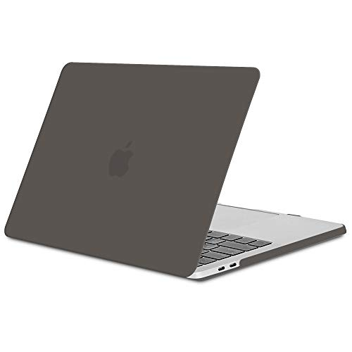 TECOOL Funda MacBook Pro 15 2016/2017/ 2018/2019, Slim Cubierta de Plástico Dura Case Carcasa para Apple MacBook Pro 15,4 con Touch Bar y Touch ID (Modelo: A1707 / A1990) -Gris