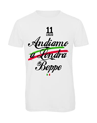 Bughyprint Tshirt T Shirt Maglia Maglietta Uomo Italia Euro 2021, M