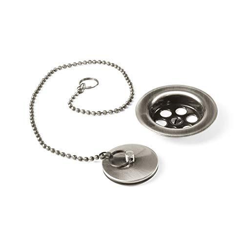 COMPLEMENTOS Conjunto de accesorios para lavabo, bidé y fregadero Ø 70 mm Cadena de 42 cm.