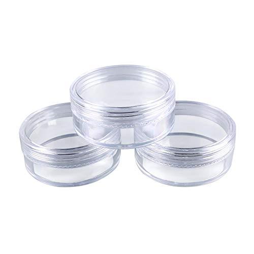 Cirdora 50pcs 5ml Botella Crema Y Botellas Y Envases De Cosméticos De Plástico Bajo El Embotellado Paquete De La Caja Olla Color Transparente