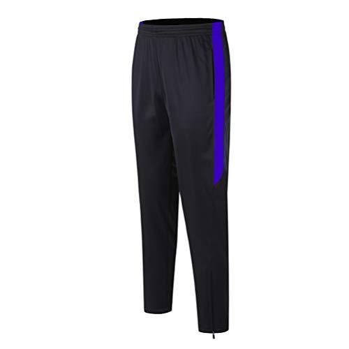 Männer Fußballtraining Jogginghose Dünne dünne Haut freundlich und langlebig Bein Reißverschluss Fußball Jogginghose