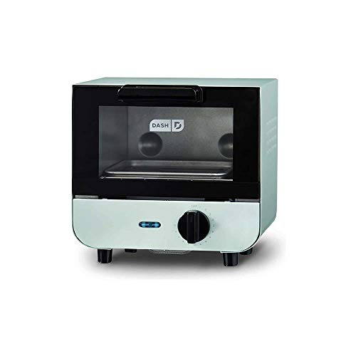 Mini Toaster Oven Cooker for Bread, Bagels, Cookies, Pizza, Rack, Auto Shut Off Featur (Aqua)