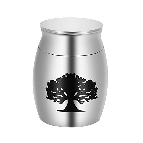 Mini Gecremeerde As Urn Mini Begrafenis As Mens-Huisdier Urn Souvenir Om Uw Favoriete Persoon Te Herdenken Roestvrij Staal 40 Mm X 30 Mm,tree of Life