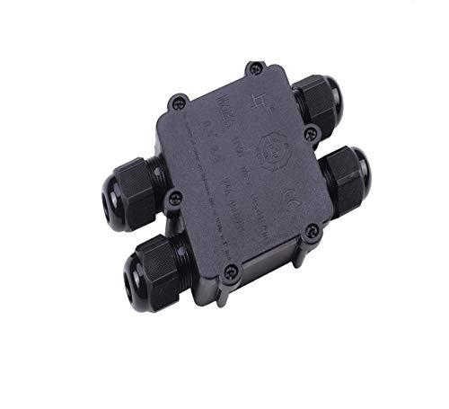 JUMBO-Verbindungsbox 4-fach mit 4x M25 Kabeleinführung inkl. Verbindungsklemmen, IP68, Kabelmuffe wasserdicht, 220V - 240V für Erdkabel