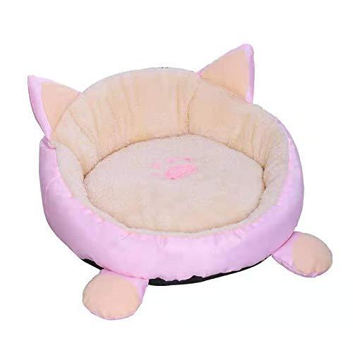 ZHEBEI Lindo perro gato colchón animal de dibujos animados estilo perrera sofá reclinable suave mascota casa cojín perro colchón mascota suministros m38cm negro