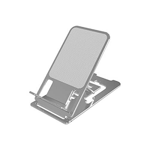 DKE&HXL Soporte para teléfono, soporte de aleación de aluminio, plegable, soporte universal para teléfono móvil.