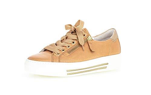 Gabor Zapatillas bajas para mujer, con inserto suelto, ligeras y varias tallas (G), color Marrón, talla 38.5 EU
