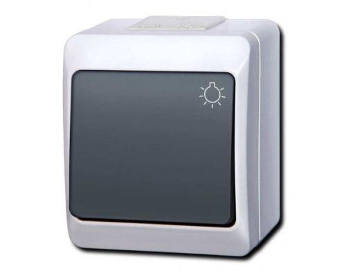 IP44IP55Aufputz Interruptor–\ enchufe programa para entornos húmedos Schuko Hermes aquant