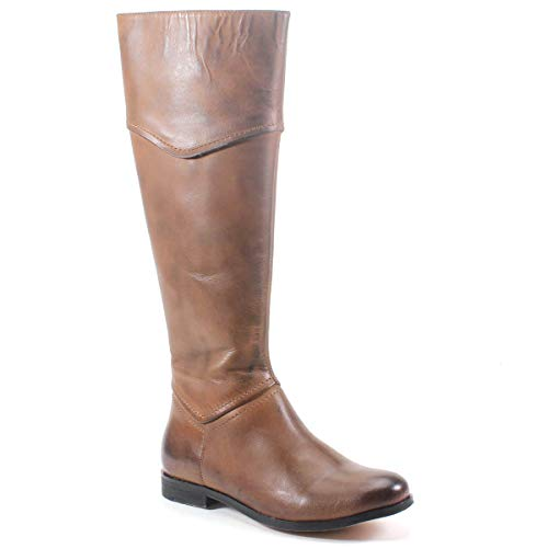Diba True Poppy Seed Leather Riding Boot (8.5, Brown)