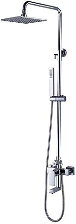 MFHSB Luxurises Multifunktionsduschset, Moderne einfache Wanddusche, Hand Held Hot und Cold Shower Head 360 Grad Rotation Scalding Protection