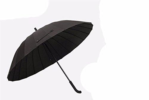 SFSYDDY-Grote Zwarte Paraplu Lange Behandelde Man Regenachtige Dag Speciale Moderne Paraplu Versterking Storm Bestand Lange Paraplu.