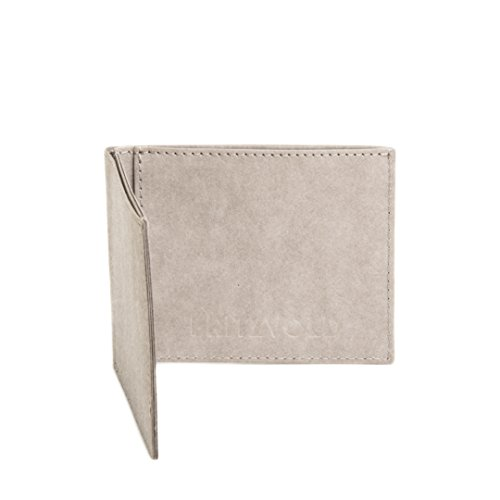 FRITZVOLD MINIMAL Wallet, RFID-Schutz & Münzfach, kleines, dünnes Portemonnaie für Damen & Herren, extrem Flacher Geldbeutel, Slim Portmonee, Geldbörse aus waschbarem Papier-Kunstleder, grau