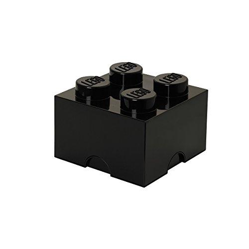 LEGO Stockage Brique 4, Plastique, Noir, Taille M