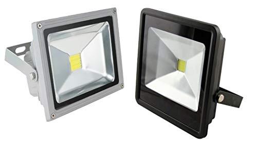 MEIQ-IT, Faro led da esterno,  100 Watt, Floodlight doppio led 6000k , 8000 Lumen,  Frequenza 50-60 HZ, Bianco fredo