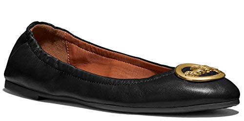 COACH Bailey Ballet Slip On Shoes - Black Leather