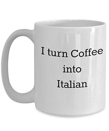 Queen54ferna Ik zet koffie in het Italiaans - Italiano Vertaler Taal Student Lover Expert Learner - Witte Keramische Novelty Koffie Mokken 11 Oz Kerstmis Moeders Dag voor Moeder Man Vrouwen Cup