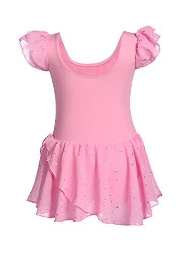 MAXMODA Leotardo de ballet para niñas ropa de ballet agradable y cómodo vestido de ballet con puntos de purpurina vestido de baile para niños de 3 a 11 años a 150