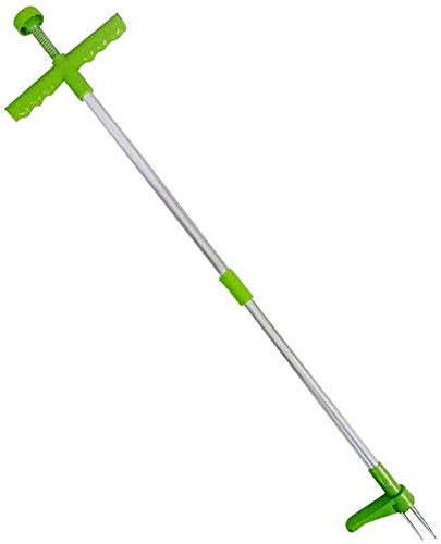 """Standing Plant Root Remover -Manual Weeders, 3 Claws Stand Up Weed Puller Garden Hand Tool with 39"""" Long Handle and High Strength Foot Pedal"""