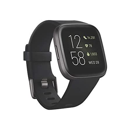 Fitbit Versa 2 Smartwatch per Benessere e Forma Fisica con Controllo Vocale, Punteggio del Sonno e Musica