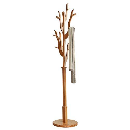 Perchero de madera maciza de bambú, multifunción, gancho para dormitorio, cocina, salón/sala de estar, moderno, creativo, ahorro de espacio, 10,27