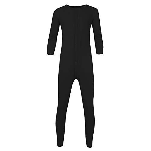 Amandaz Nachtwäsche Herren Winter Schlafanzug einfarbig Jumpsuit Kostüm Tasten Nachtwäsche Nachtwäsche Overall Adult Pyjamas Hausanzug Onesies
