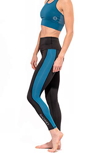 Sundried Womens Gym Leggings Die besten Jogging-Hosen Gymnastik-Sport-Tights Yoga Fitness (Blau, S)