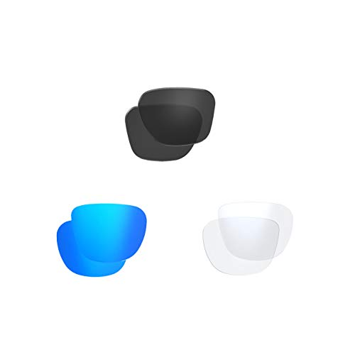 Polarized Smoke & Polarized Mirror Blue & Clear Lens Sets (Model 588)