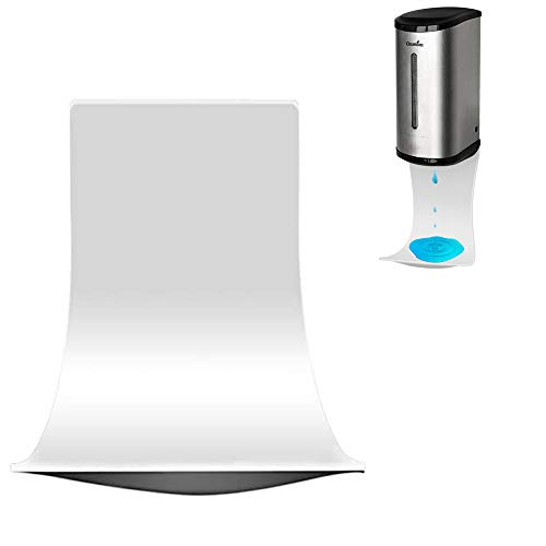Drip Tray for Automatic Hand Sanitizer Dispenser, Wall Mount Drip Tray, Spray Drip Tray, Alcohol Catch Tray, Foam Soap Dispenser Tray, Drip Catcher, Easy to Clean (White)
