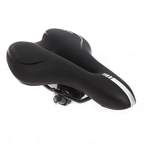 Sillín de bicicleta de trekking, sillín de bicicleta ergonómico y cómodo, asiento de bicicleta para hombre y mujer, sillín negro para bicicleta, MTB, bicicletas de ciudad