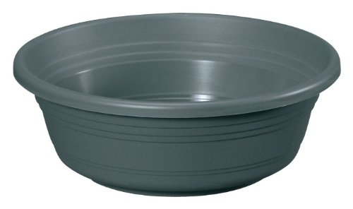 geli Thermo Plastic Pflanzschale Jessica rund aus Kunststoff, Farbe:anthrazit;Durchmesser:60 cm