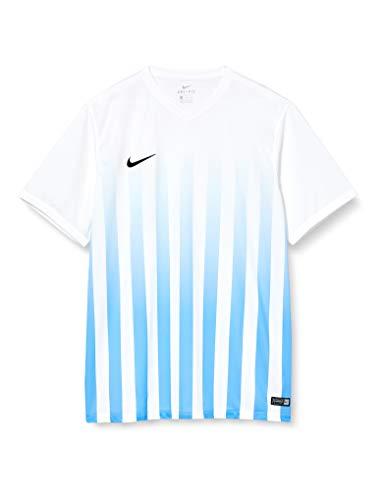 NIKE SS Striped Division II JSY Camiseta del Fútbol, para Hombre, Blanco con Rayas azules, XL