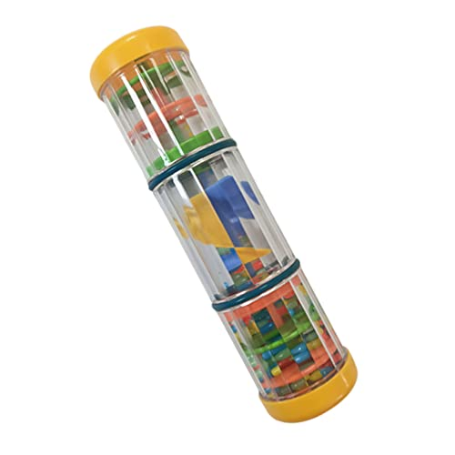 Toddmomy Perlé Gouttes de Pluie Tournant Faiseur de Pluie Jouet en Plastique Sensorielle Shaker Mini Bâton De Pluie Orff Instruments de Musique pour Bébé Enfant Fille