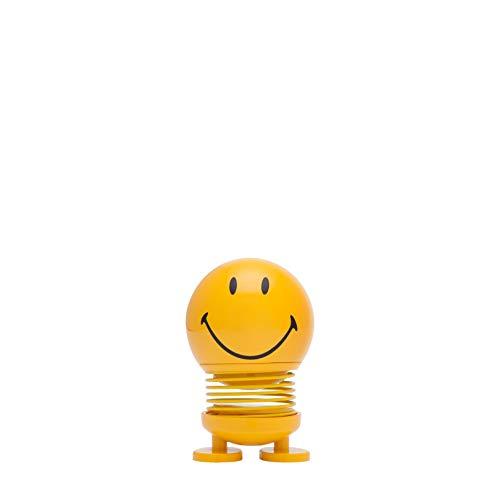 Hoptimist - Skandinavisches Design - Small Smiley - Höhe: 8 cm - Gelb - Deko - Geschenkidee …