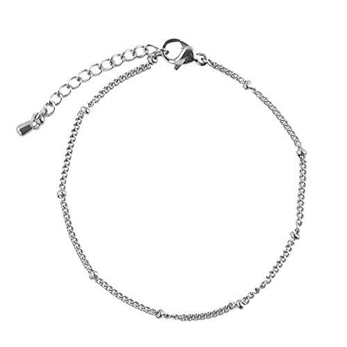 JoJo Sinara – armband met kleine bolletjes bolletjes parels miniparels filigraan van roestvrij staal