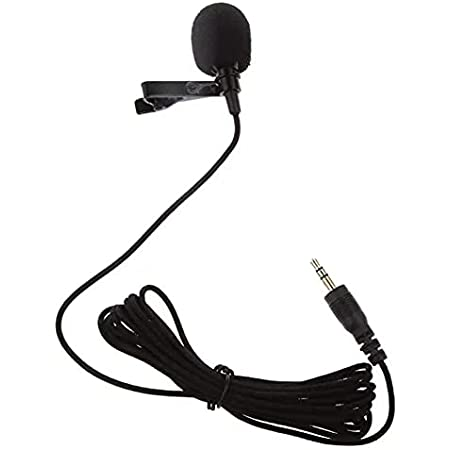 Shouten 3.5mm Clip Microphone Collar Mic for YouTube  Digital Noise Cancellation Clip Collar Mic Condenser for YouTube Video   Interviews   Lectures Travel Videos Mic for Mobile