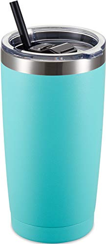 ALOUFEA 20oz Stainless Steel Tumbler with Lid and Straw
