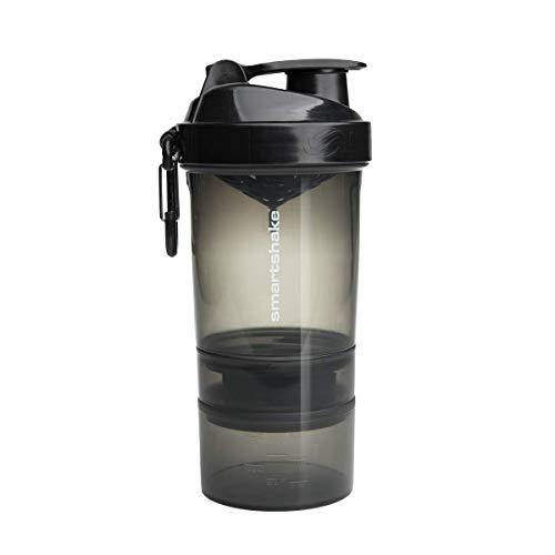 SmartShake O2GO Trinkflasche, Polypropylen, Black, 600ml