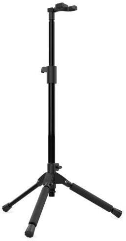 Audibax, SG06-PRO Soporte de guitarra para Suelo, Plegable y Portátil, Para Guitarras Eléctricas, Acústicas o Bajos, Altura ajustable 70 a 100 cm, Apoyos Acolchados, Color Negro