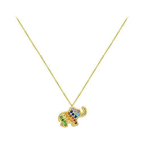 YZXYZH Collar De Elefante Bebé Colgante De Cadena De Clavícula Femenina
