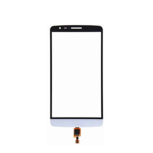 JayTong Digitizer Touch Screen Outer Screen Glass Replacement with Free Tools for LG G3 D850 D851 D855 LS990 VS985 (Not LCD Display) White