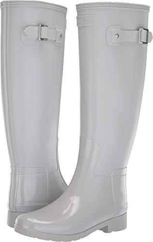 Hunter Damen-Schuhe Refined Tall Gloss Duo, Braun (Boardwalk), 42 EU