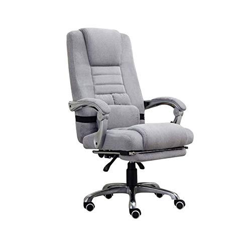 ZOUSHUAIDEDIAN Silla de oficina, silla de computadora ergonómica y cómoda, altura ajustable y silla de escritorio giratorio reclinable con reposabrazos y soporte lumbar y ruedas rodantes para oficina,