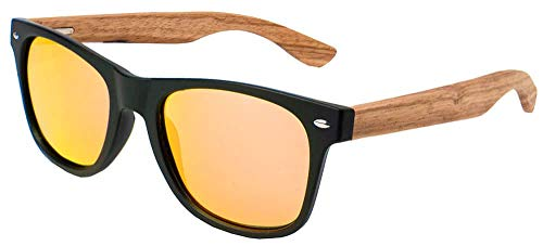 Ocean Behach Wood Black Red - Negro