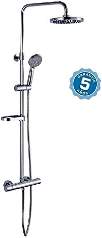 Duschgarnitur mit Kopfbrause Wasserhahn termostatico, Stab und mit Garantie 5Jahre
