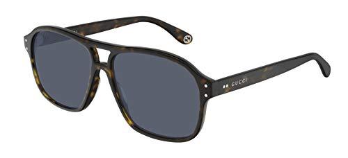 Gucci Occhiali da Sole GG0475S HAVANA/BLUE 58/14/150 uomo